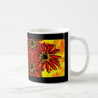 Red Daisies Basic White Mug