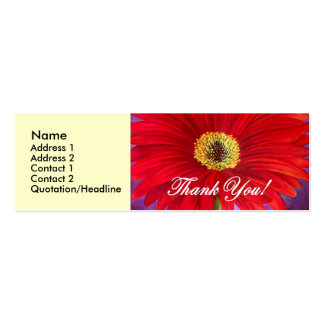 Red Daisy Flower Painting - Multi Business Cards