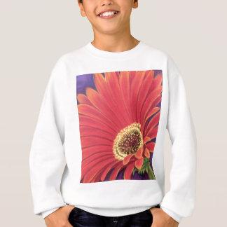 Red Daisy Flower Painting - Multi Sweatshirt