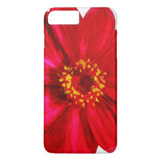 Red Daisy Flower With Yellow Pollen Abstract iPhone 7 Plus Case