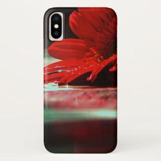 Red Daisy Gerbera Flowers iPhone X Case