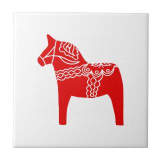 Red Dala Horse Tiles