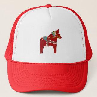 Red Dala Horse Trucker Hat