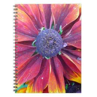 Red Dalia Delight Design Products Notebook