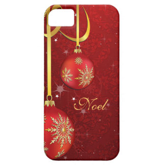 Red Damask Christmas iPhone 5 Case
