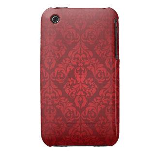 Red Damask Design Blackberry Curve case