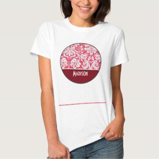 Red Damask Pattern; Cute Tee Shirt