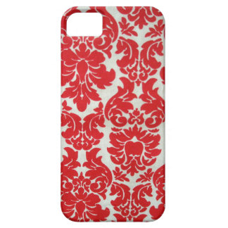 Red Damask Pattern for I Phone Barely There iPhone 5 Case