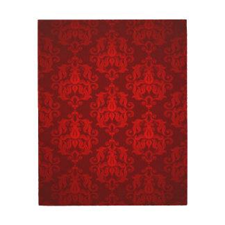 Red Damask Pattern Print Design