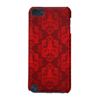 Red Damask Pattern Print Design iPod Touch (5th Generation) Cover
