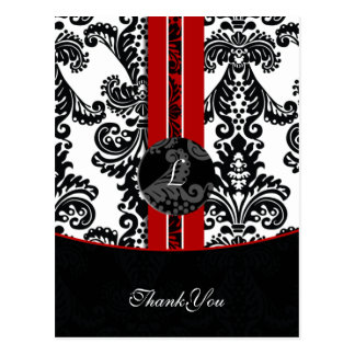 red damask ThankYou Cards Postcard