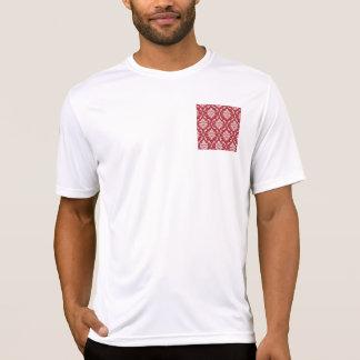 Red Damask Vintage Pattern T Shirt