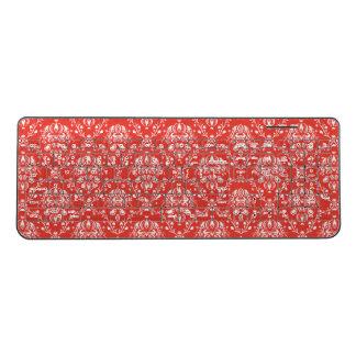 Red Damask Wireless Keyboard