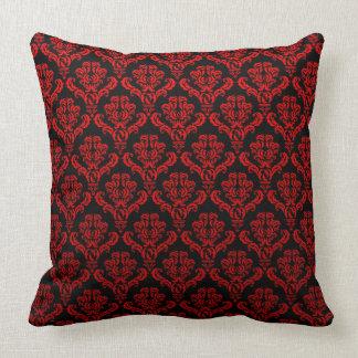 Red Damasks On Black Cushion