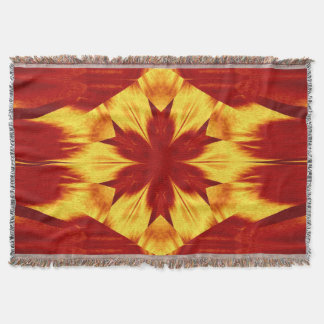 Red Dandelion Throw Blanket