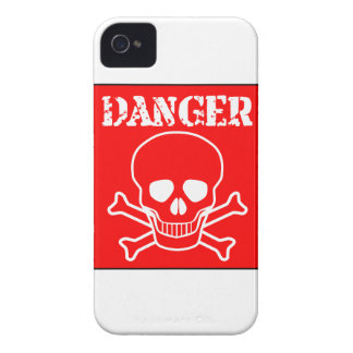 Red Danger Sign iPhone 4 Case-Mate Cases