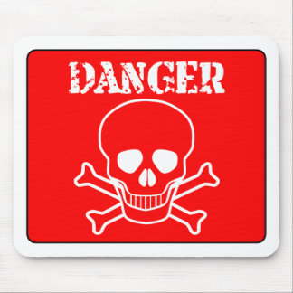 Red Danger Sign Mouse Pad