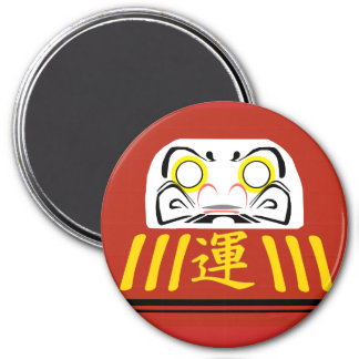 Red Daruma: For LUCK and GOOD FORTUNE 7.5 Cm Round Magnet