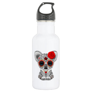 Red Day of the Dead Baby Koala 532 Ml Water Bottle