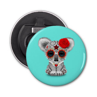 Red Day of the Dead Baby Koala Bottle Opener