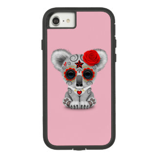 Red Day of the Dead Baby Koala Case-Mate Tough Extreme iPhone 8/7 Case