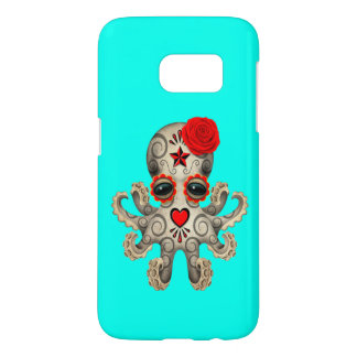 Red Day of the Dead Baby Octopus
