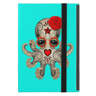 Red Day of the Dead Baby Octopus Cover For iPad Mini