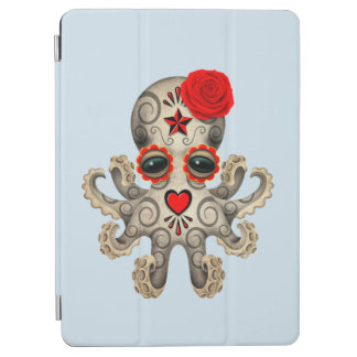 Red Day of the Dead Baby Octopus iPad Air Cover