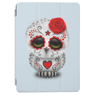 Red Day of the Dead Baby Owl iPad Air Cover