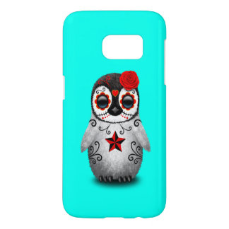 Red Day of the Dead Baby Penguin