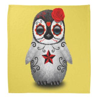 Red Day of the Dead Baby Penguin Do-rag