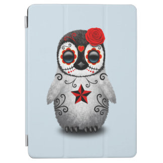 Red Day of the Dead Baby Penguin iPad Air Cover