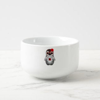 Red Day of the Dead Baby Penguin Soup Mug