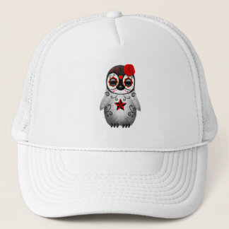 Red Day of the Dead Baby Penguin Trucker Hat