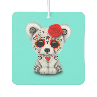 Red Day of the Dead Baby Polar Bear