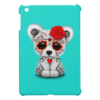 Red Day of the Dead Baby Polar Bear iPad Mini Cover