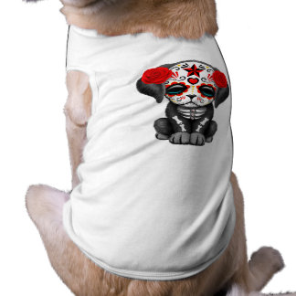 Red Day of the Dead Baby Puppy Dog Shirt