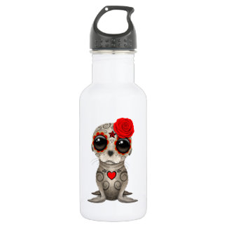 Red Day of the Dead Baby Sea Lion 532 Ml Water Bottle