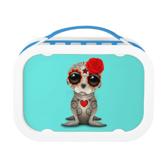 Red Day of the Dead Baby Sea Lion Lunch Box