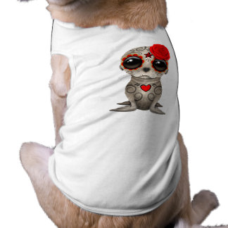 Red Day of the Dead Baby Sea Lion Shirt