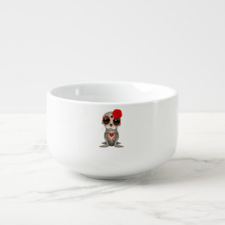 Red Day of the Dead Baby Sea Lion Soup Mug