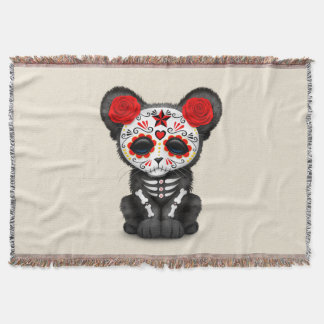 Red Day of the Dead Black Panther Cub
