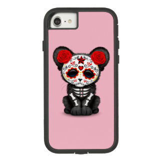 Red Day of the Dead Black Panther Cub Case-Mate Tough Extreme iPhone 8/7 Case