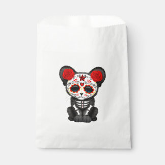 Red Day of the Dead Black Panther Cub Favour Bag