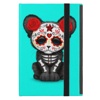 Red Day of the Dead Black Panther Cub iPad Mini Cover
