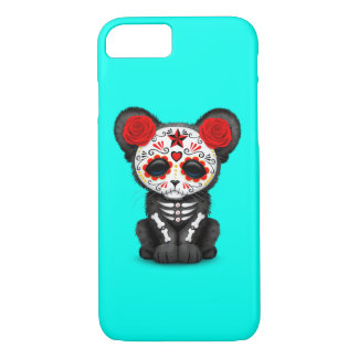 Red Day of the Dead Black Panther Cub iPhone 8/7 Case
