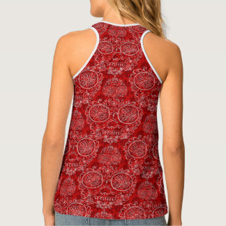 Red Day Of The Dead Singlet