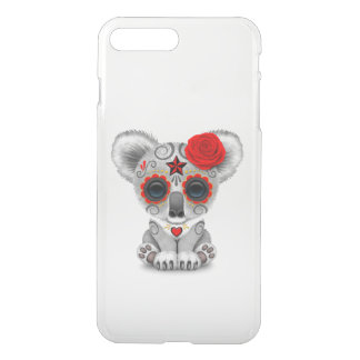 Red Day of the Dead Sugar Skull Baby Koala iPhone 7 Plus Case