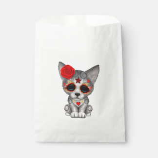 Red Day of the Dead Wolf Cub Favour Bag