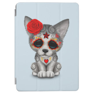 Red Day of the Dead Wolf Cub iPad Air Cover